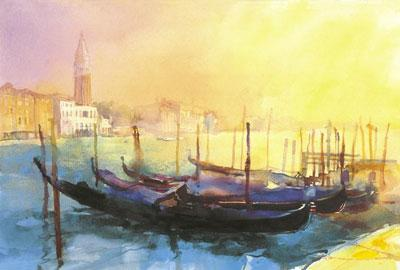 Morning Gondolas by Cecil Rice