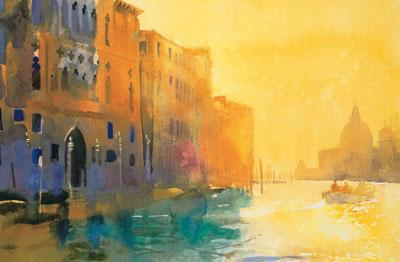 Morning Shadows - Grand Canal by Cecil Rice