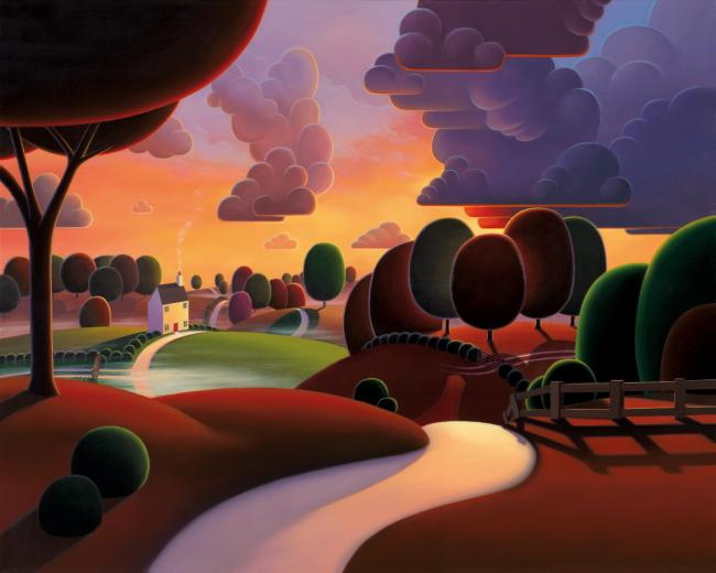 Mornings Misty Veil by Paul Corfield