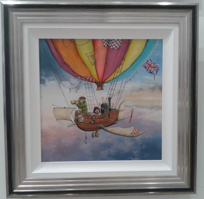 Mr Toad and Moley's Fantastic Flying Machine - High Gloss Resin with 3D Elements by Dale Bowen