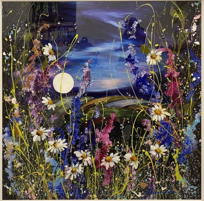 Mystic Meadow (24 x 24) by Rozanne Bell