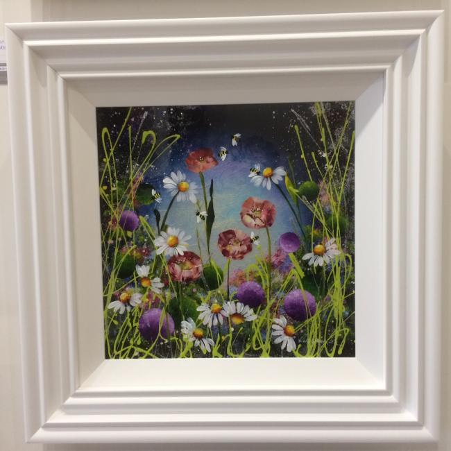 Mystic Meadow II (16 x 16) by Rozanne Bell