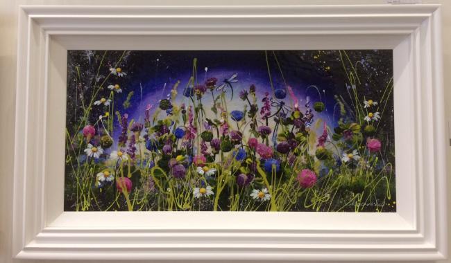 Mystic Meadow III (36 x 18) by Rozanne Bell