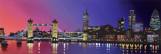 Nightfall Tower Bridge by Neil Dawson
