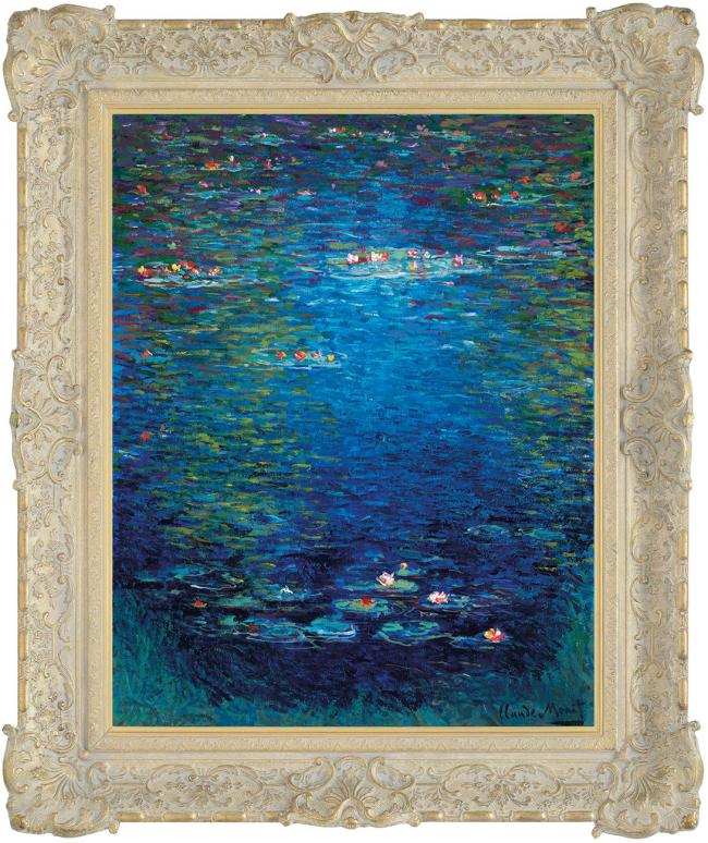 Nymphea In The Style Of Claude Monet 1904 by John Myatt