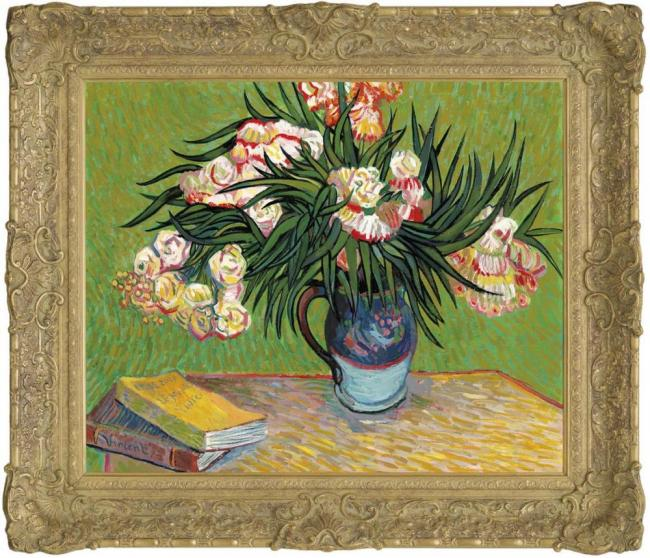 Oleanders In The Style of Vincent Van Gogh by John Myatt