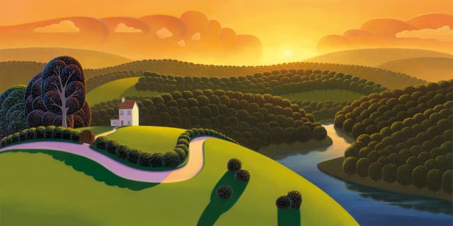 Orange Dawn by Paul Corfield