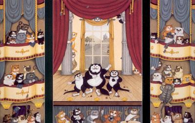 O'Sole Meow (Triptych) by Linda Jane Smith