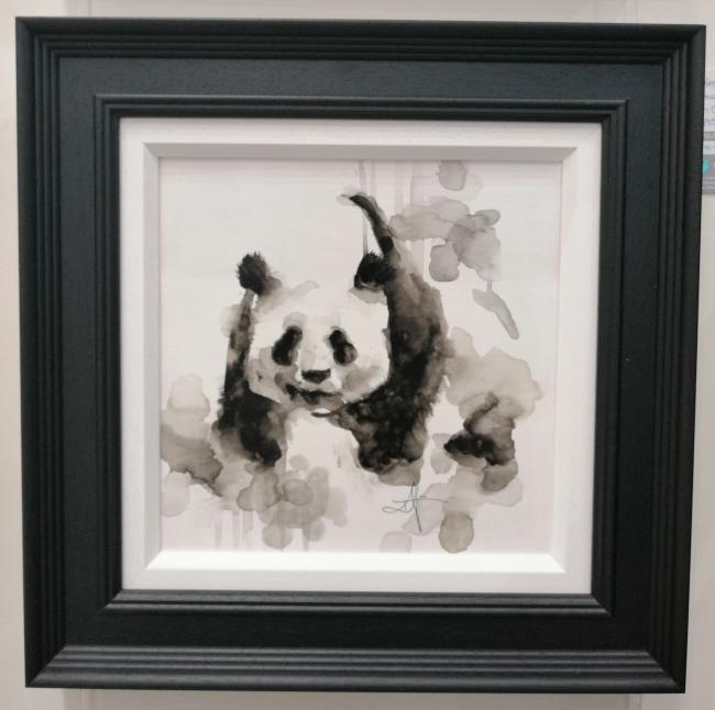 Panda - Watercolour by Katy Jade Dobson