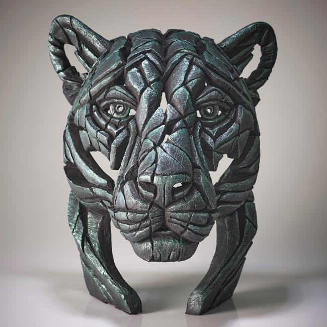 Panther Bust- Green Dreamby Edge Sculptures by Matt Buckley