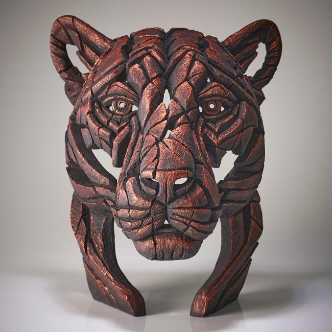 Panther Bust- Jungle Flameby Edge Sculptures by Matt Buckley