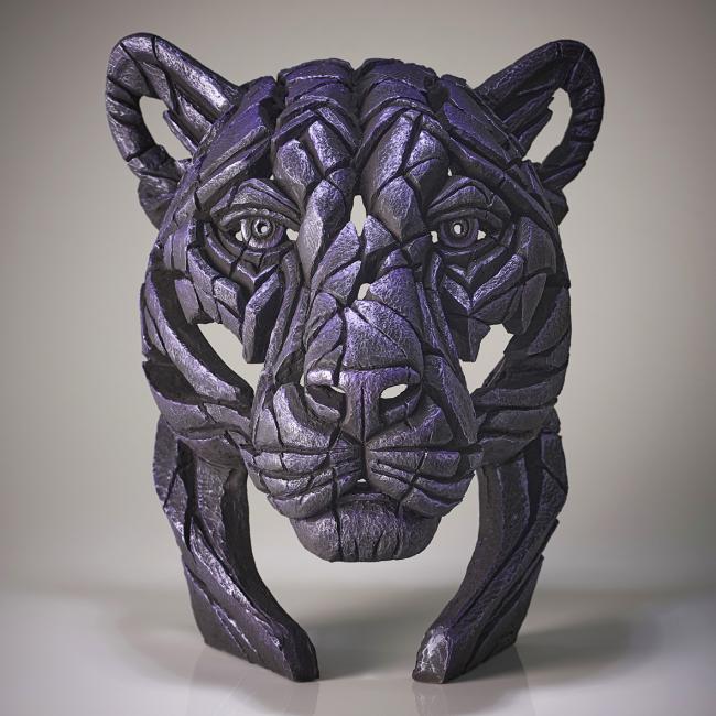 Panther Bust-Moon Hunterby Edge Sculptures by Matt Buckley