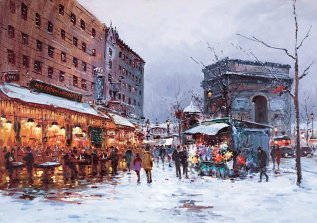 Paris In The Snow by Henderson Cisz