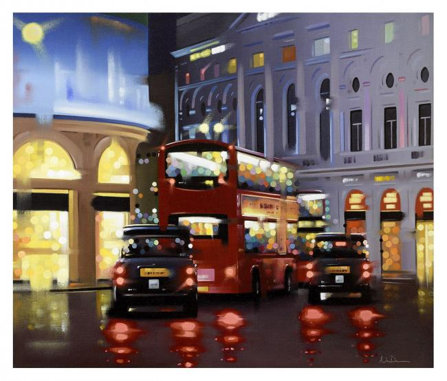 Piccadilly Night Adventure - Canvas by Neil Dawson