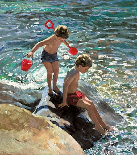 Playing on the Rocks by Sherree Valentine Daines