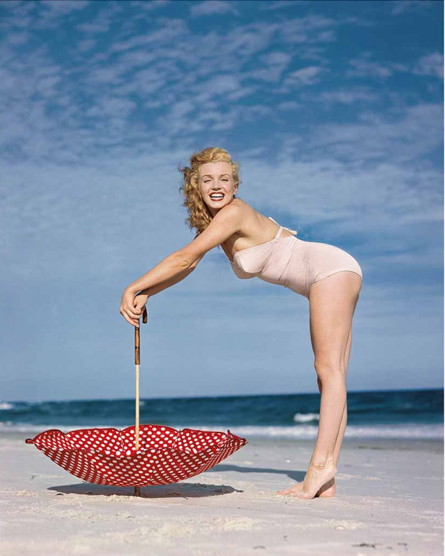 Polka Dot Umbrella, Tobay Beach, 1949 by Edward Weston Collection