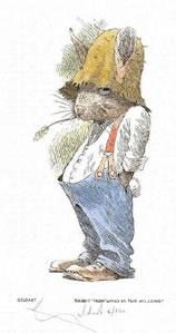 Rabbit - Wind In The Willows by William Geldart
