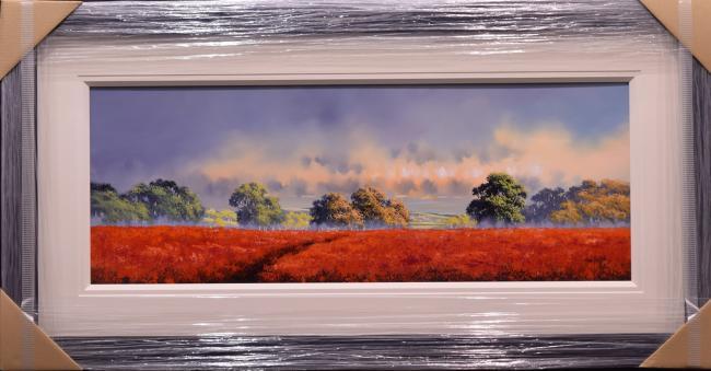 Red Field (15x40) by Allan Morgan