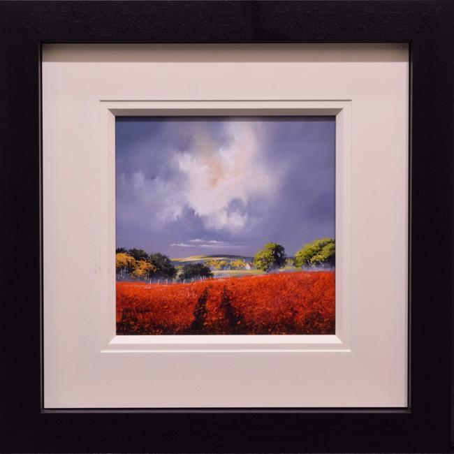 Red Field III (12x12) by Allan Morgan