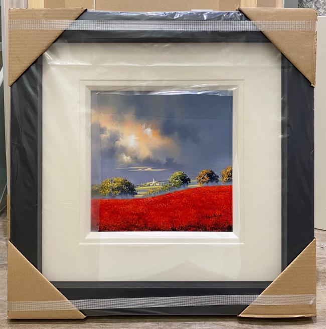Red Field V (12x12) by Allan Morgan