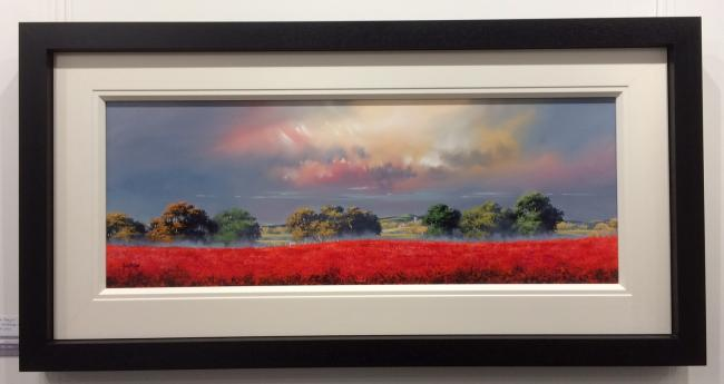 Red Landscape ii by Allan Morgan