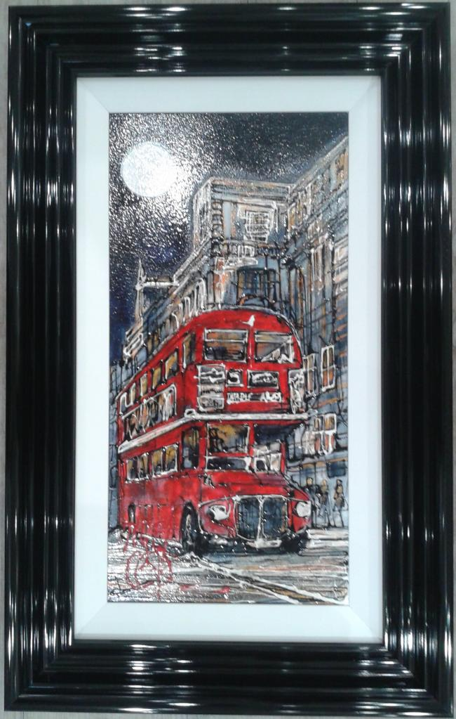 Red London Bus by Nigel Cooke