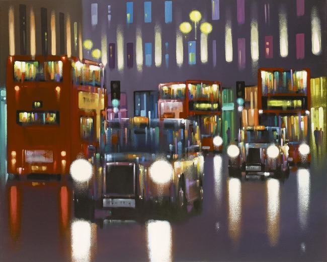 Regent Street Rain by Neil Dawson
