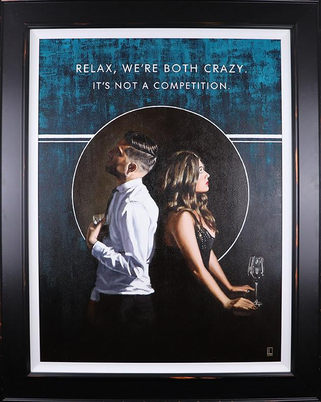Relax Were Both Crazy  Canvas by Richard Blunt