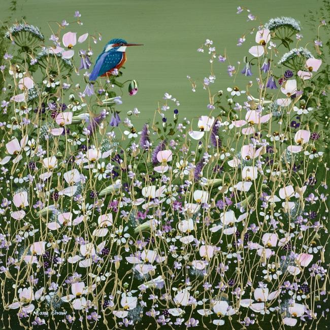 Resting Kingfisher III by Mary Shaw