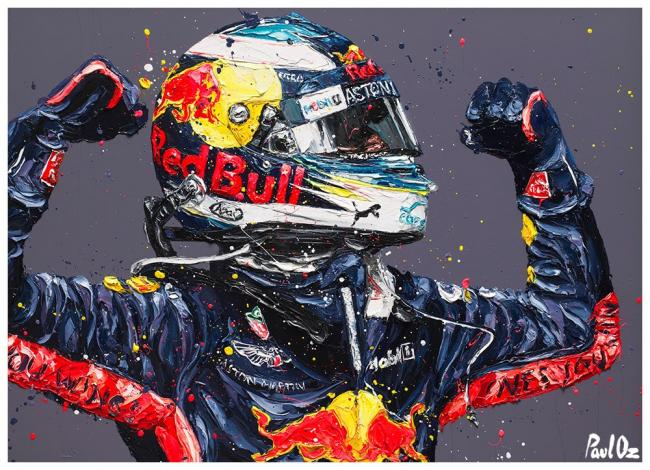 Ricciardo Retribution- Canvas by Paul Oz