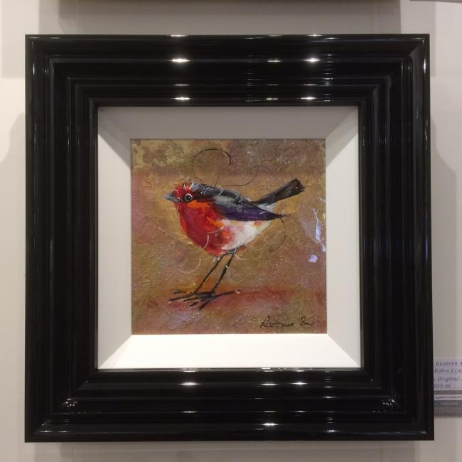Robin (10 x 10) by Rozanne Bell