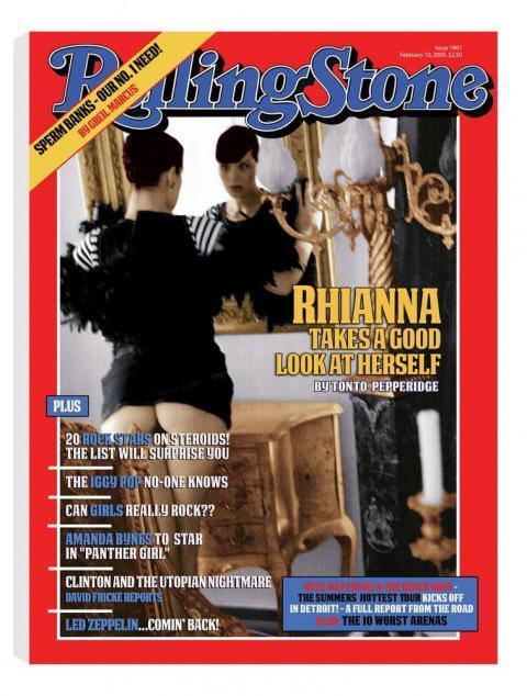 Rolling Stone Magazine - Rhianna - Canvas by Bob Dylan