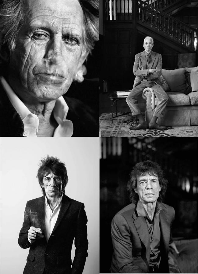 Rolling Stones Medium Format Set of 4 by Michael Donald
