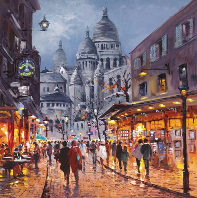 Sacre Coeur, Midnight by Henderson Cisz