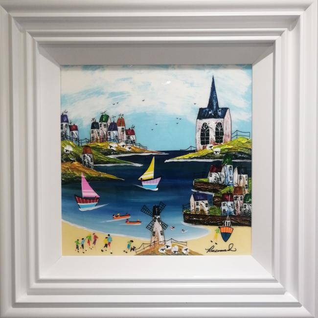 Sail Day (16x16) by Rozanne Bell
