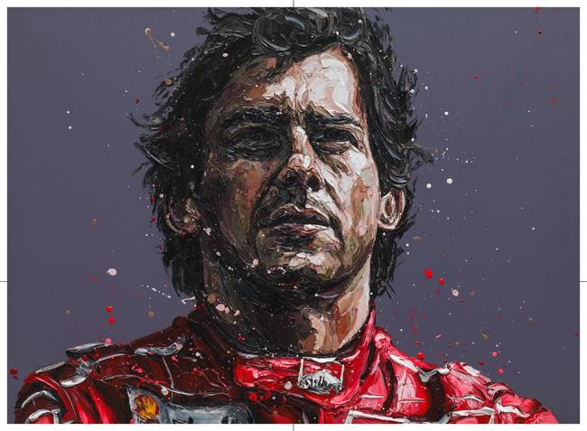 Senna 24th Anniversary Commerative - Canvas by Paul Oz