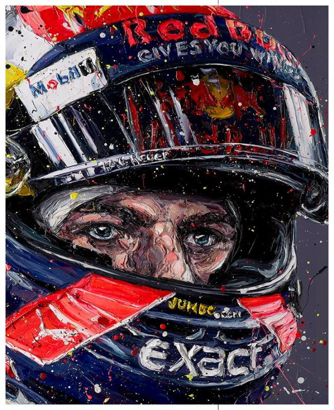 Simply Lovely Max Verstappen - Canvas by Paul Oz