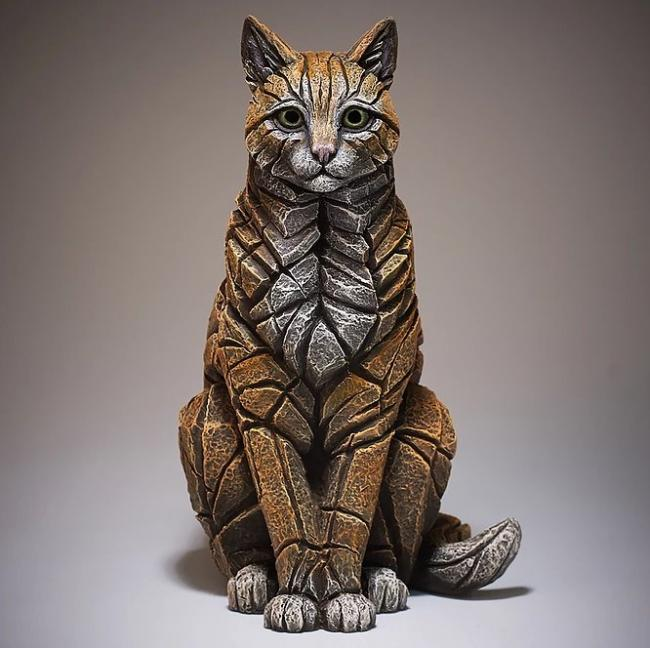 Sitting Cat- Ginger by Edge Sculptures by Matt Buckley