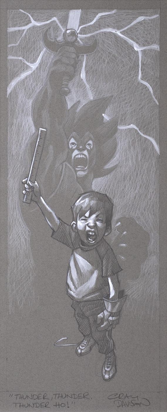 Sketch - Thunder, Thunder, Thunder Cats Hooooo by Craig Davison