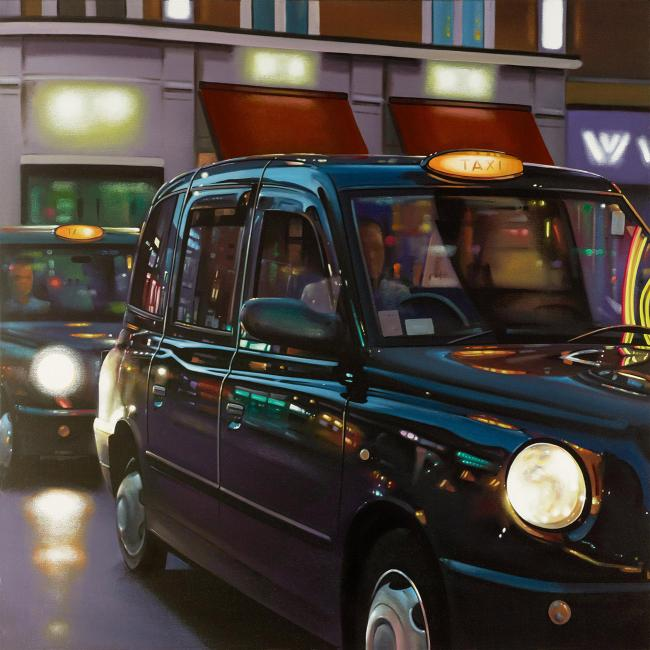 Soho Cab Ride by Neil Dawson