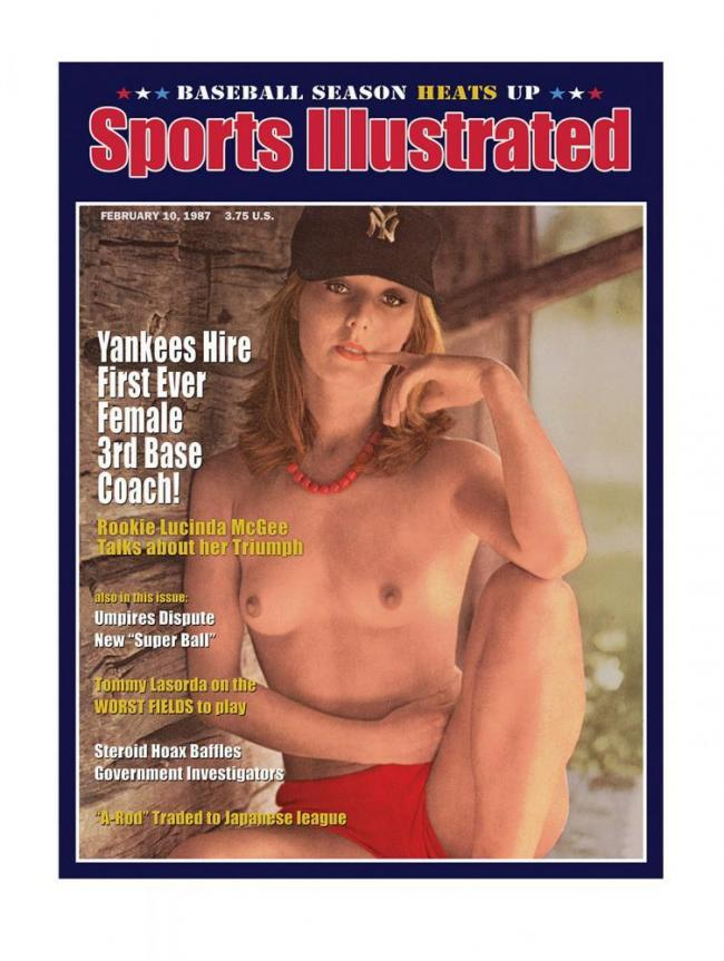 Sports Illustrated - Female 3rd Base Coach by Bob Dylan
