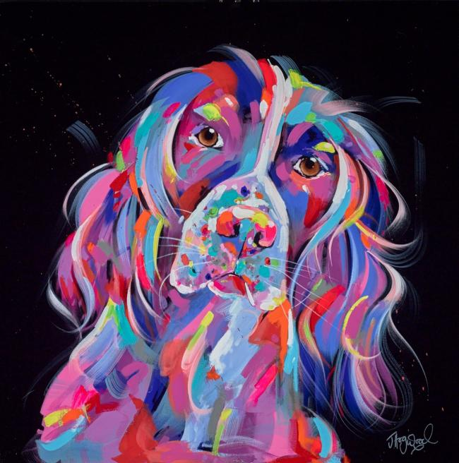 Springer Spaniel love by Jennifer Hogwood