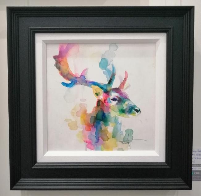 Stag Head - Watercolour by Katy Jade Dobson