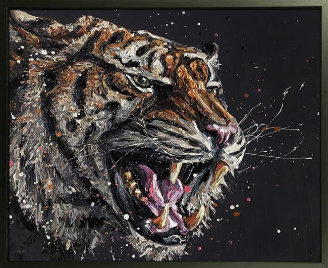 Stark- Hand Embellished Canvas by Paul Oz
