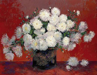 Still Life Flowers - Red by John Myatt