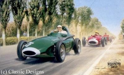 Stirling Moss, OBE by Tony Smith