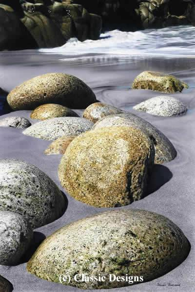 Striding Stones - Porth Nanven, Cornwall by Steven Townsend