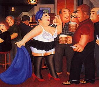 Strippergram by Beryl Cook