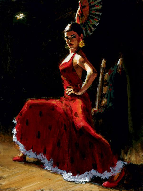 Study For Celina with Abanico III by Fabian Perez