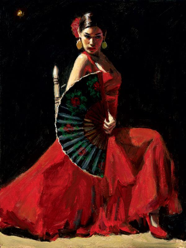 Study For Celina with Abanico IV by Fabian Perez